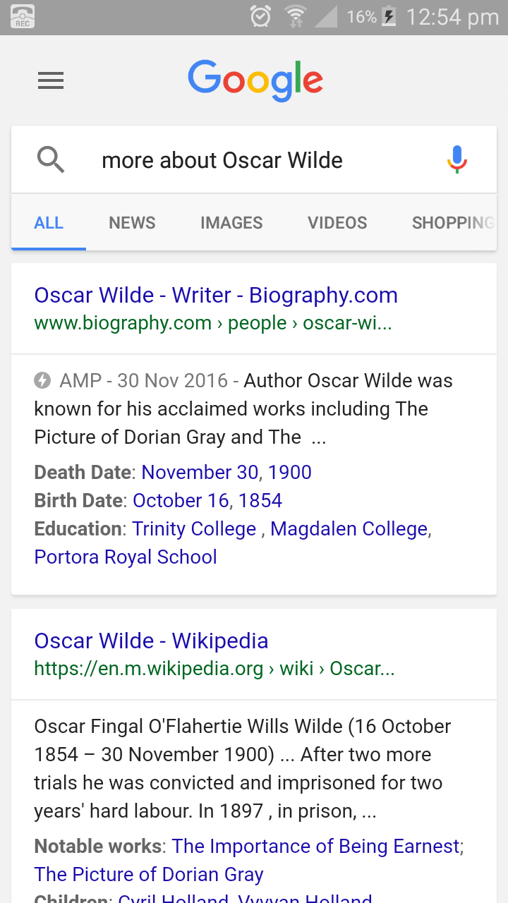 oscar wild