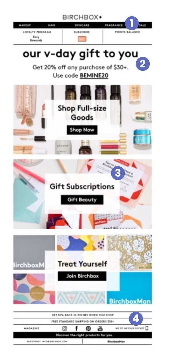 Subscription email example