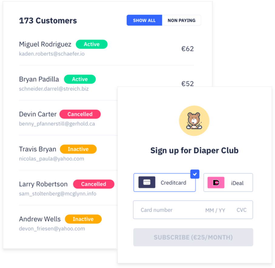 Product subscriptions