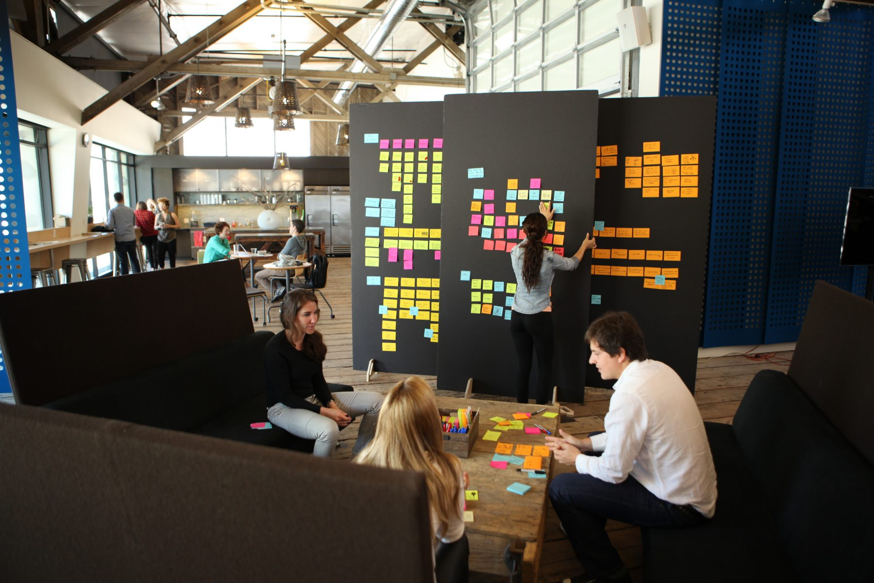 Using Sticky notes for Design Thinking