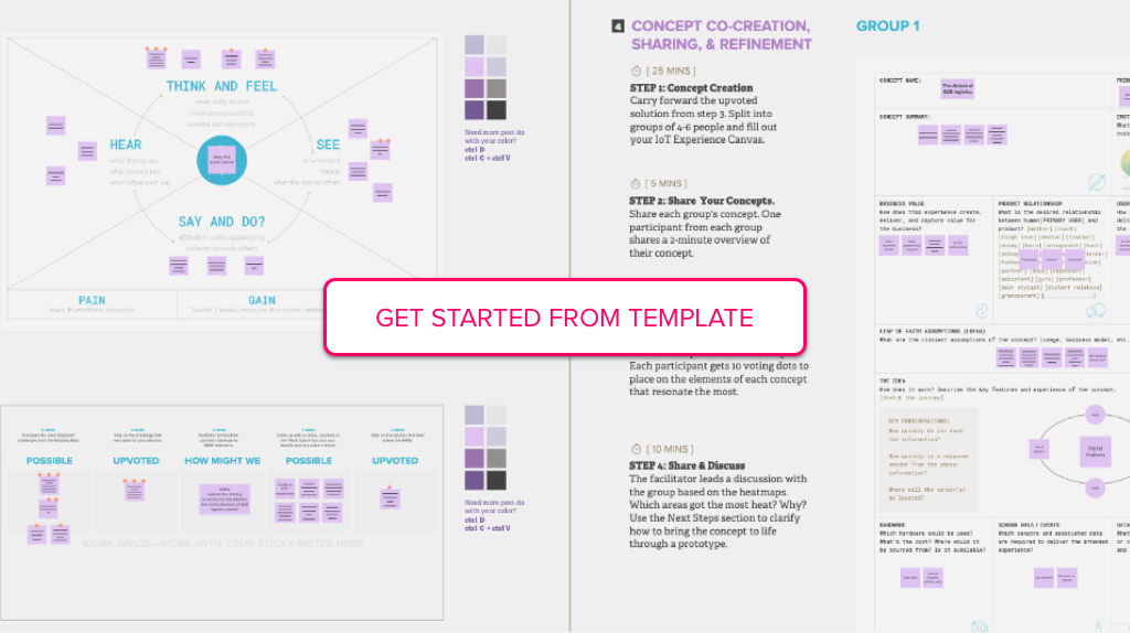 Get started from example template of The Concept Sprint