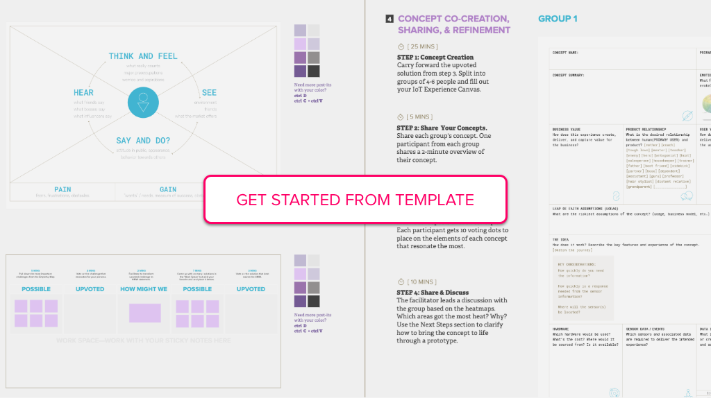 Get started from blank template of The Concept Sprint