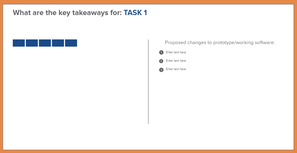 Screenshot of Emerson's Key Takeaways template