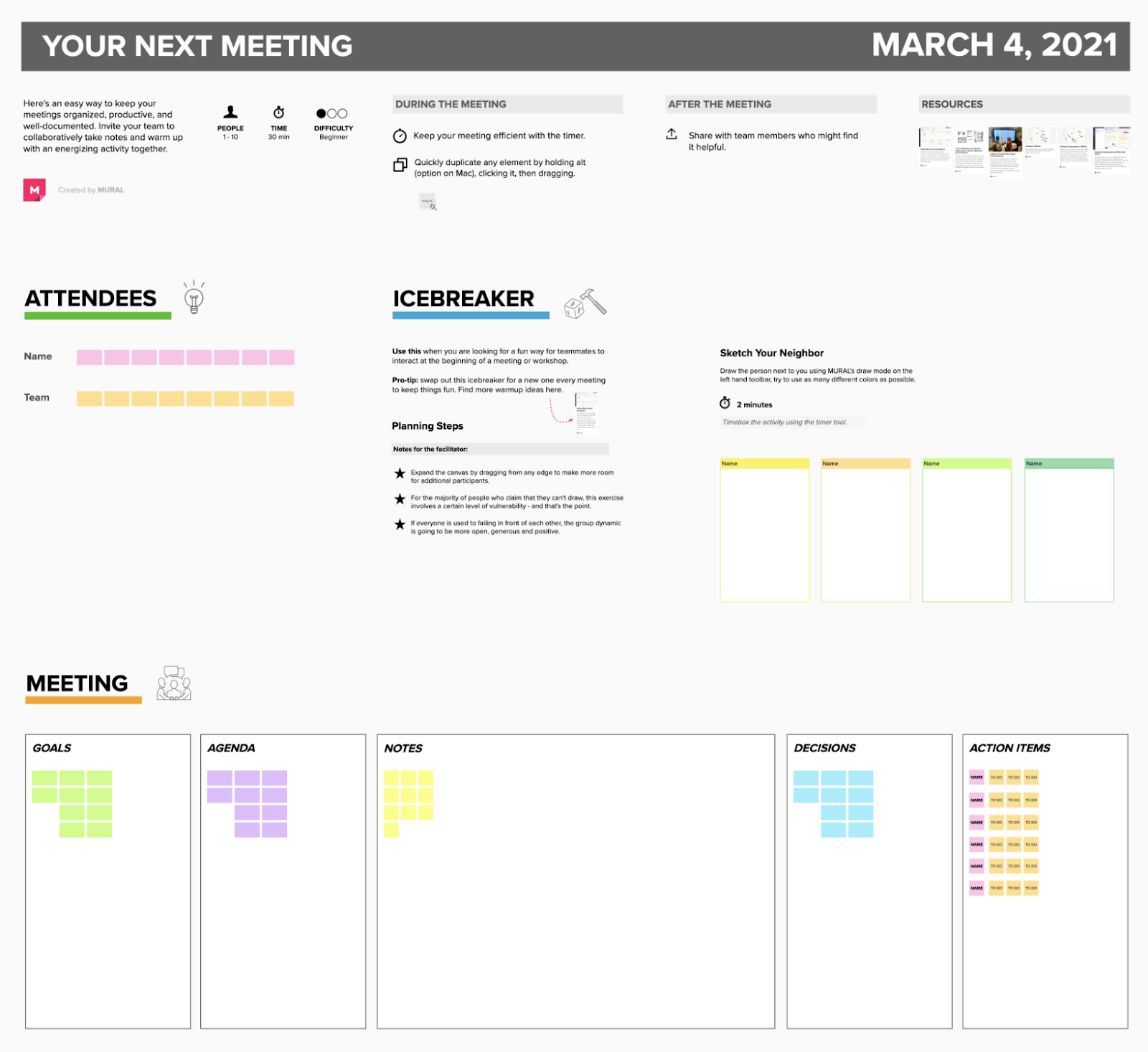 Your Next Meeting Template