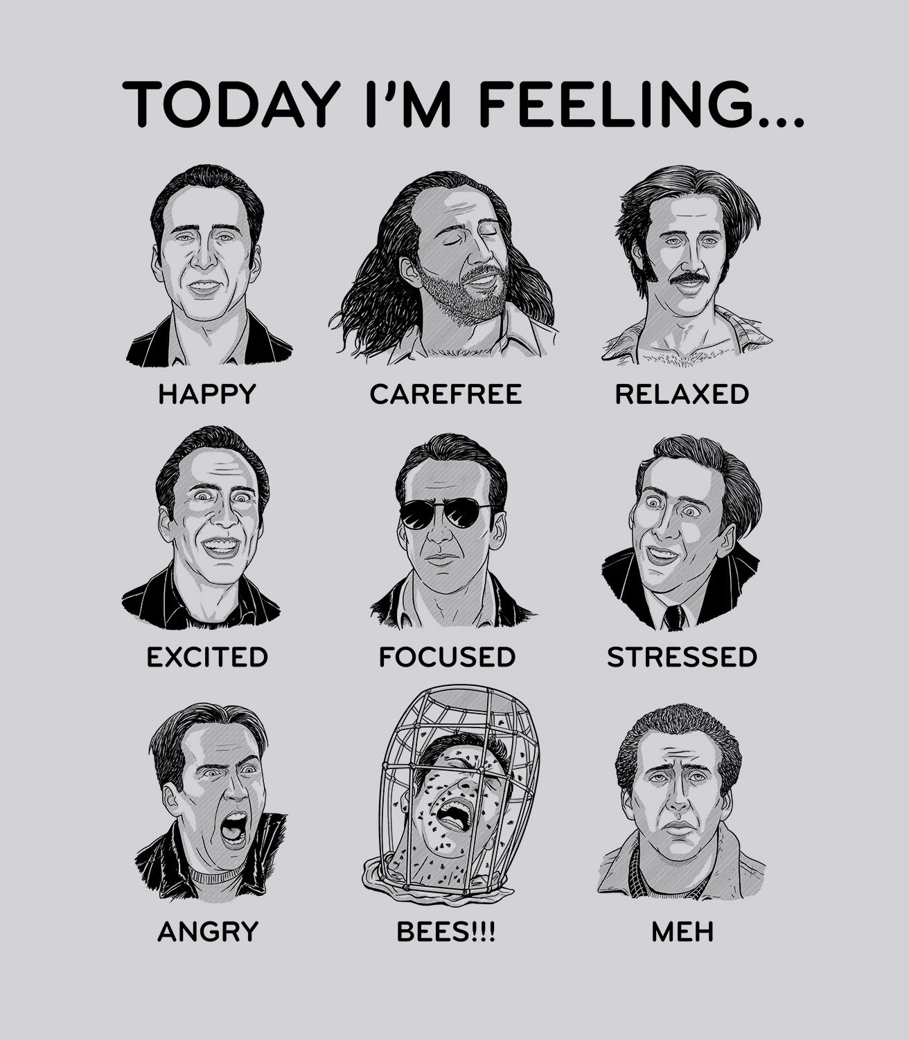 Which Nic Cage are you? Today I'm feeling....