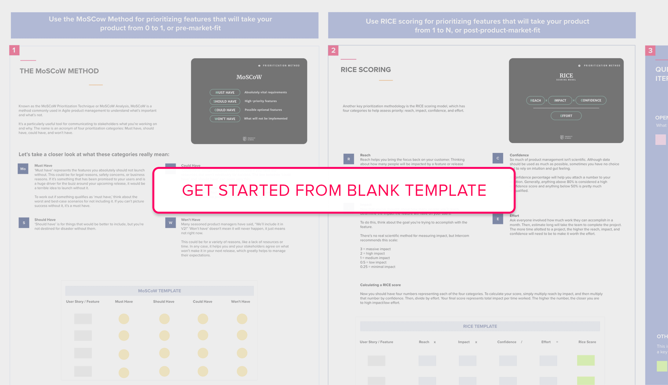 Get started from Feature Prioritization blank template