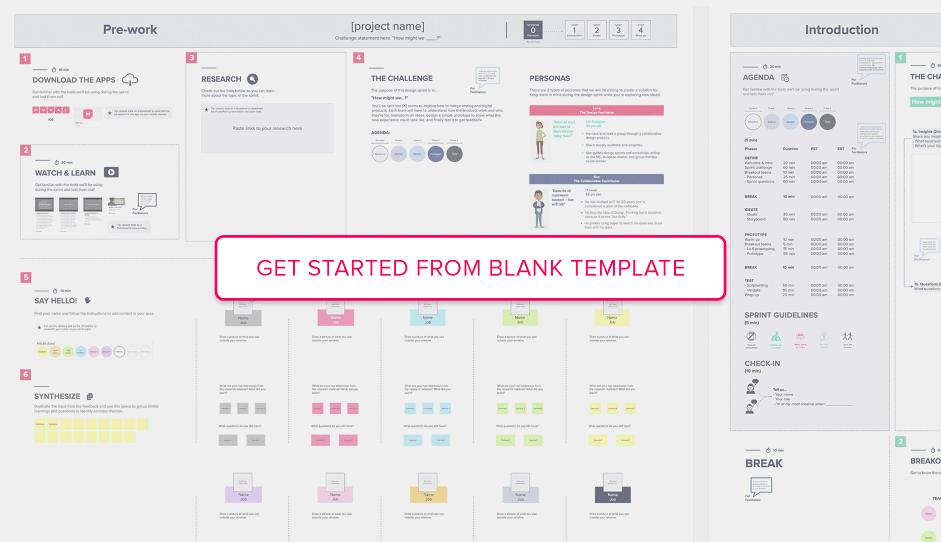 Get started from Design Sprint blank template