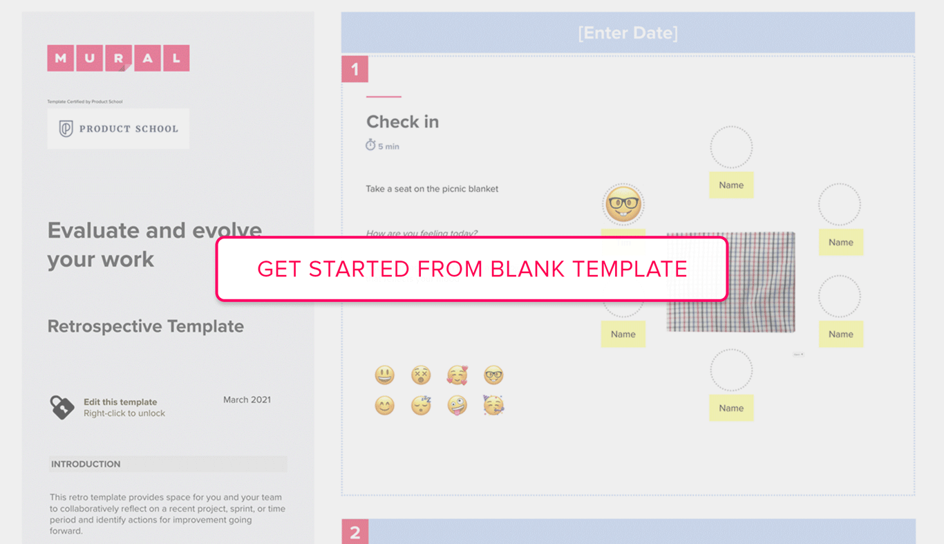 Get started from Retrospective blank template