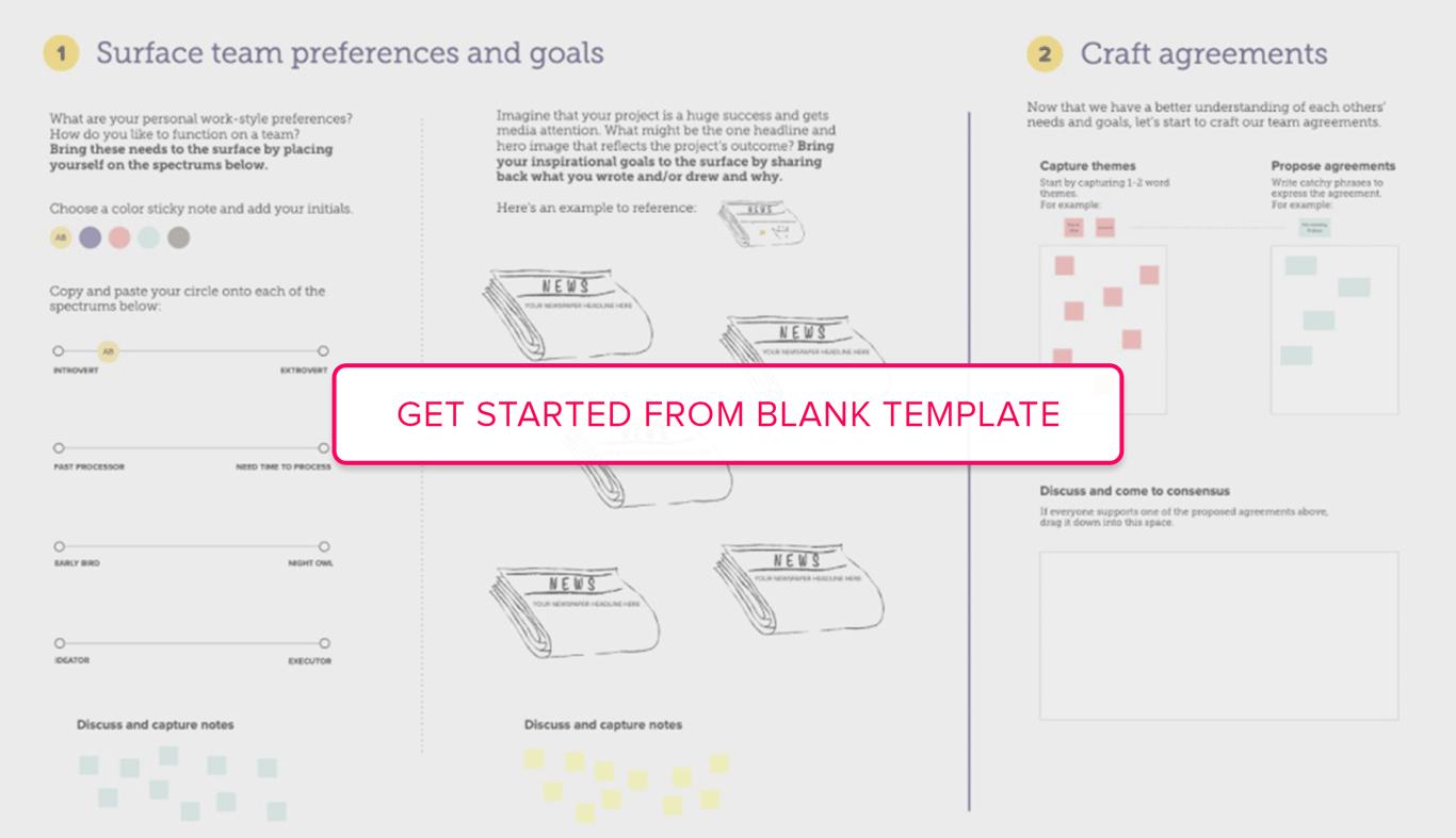 Get started from Team Agreements Blank Template