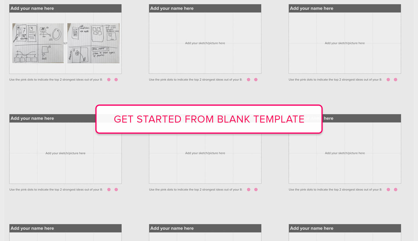 Open Crazy Eights blank template