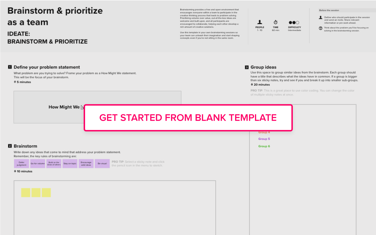 Brainstorm and ideation template