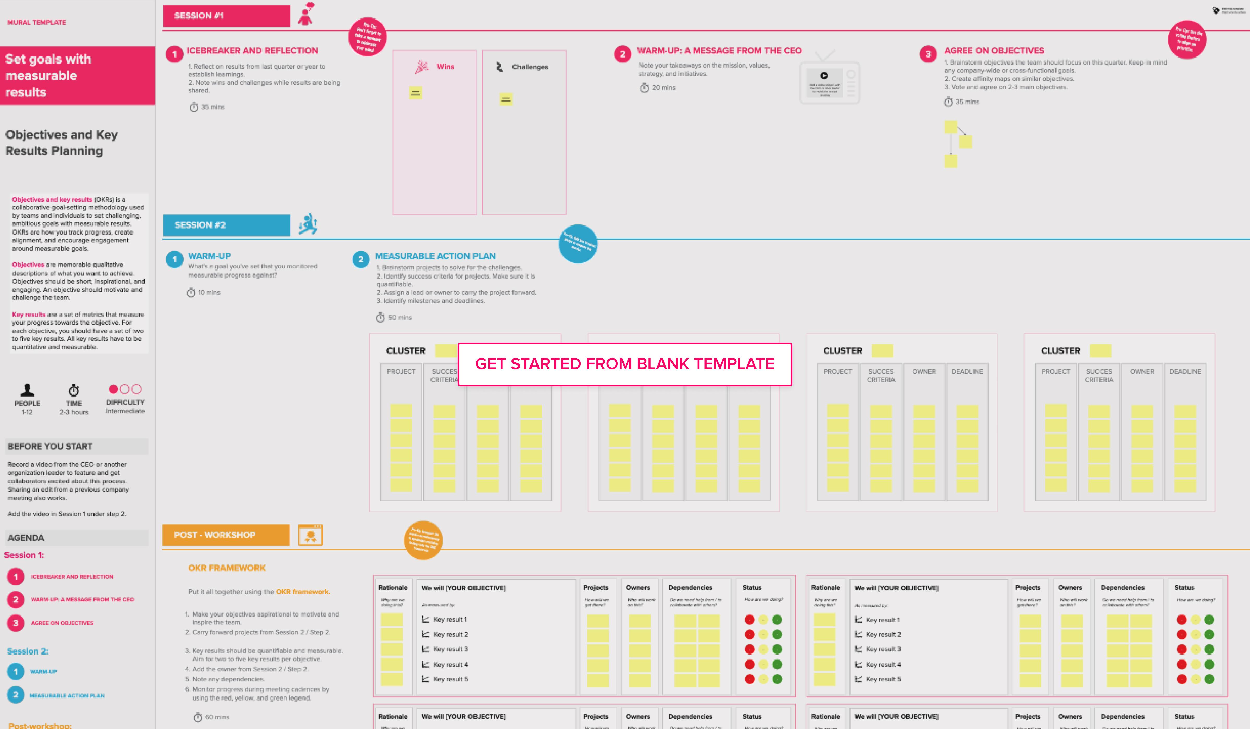 OKR Planning template