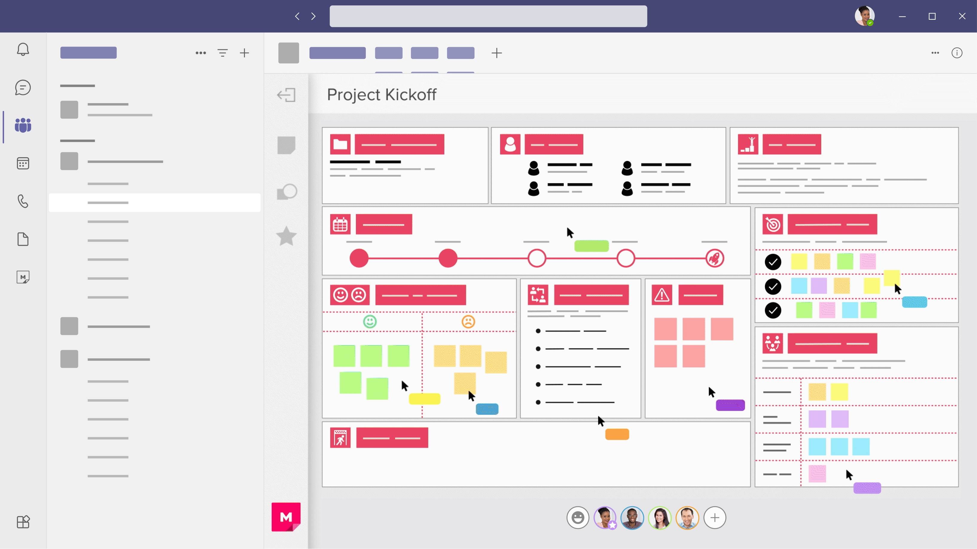Abstracted image of a mural within Microsoft Teams