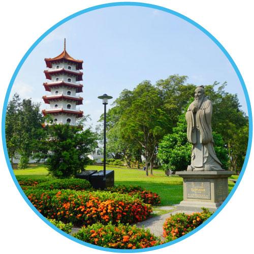 Jurong Lakes Chinese garden, Singapore