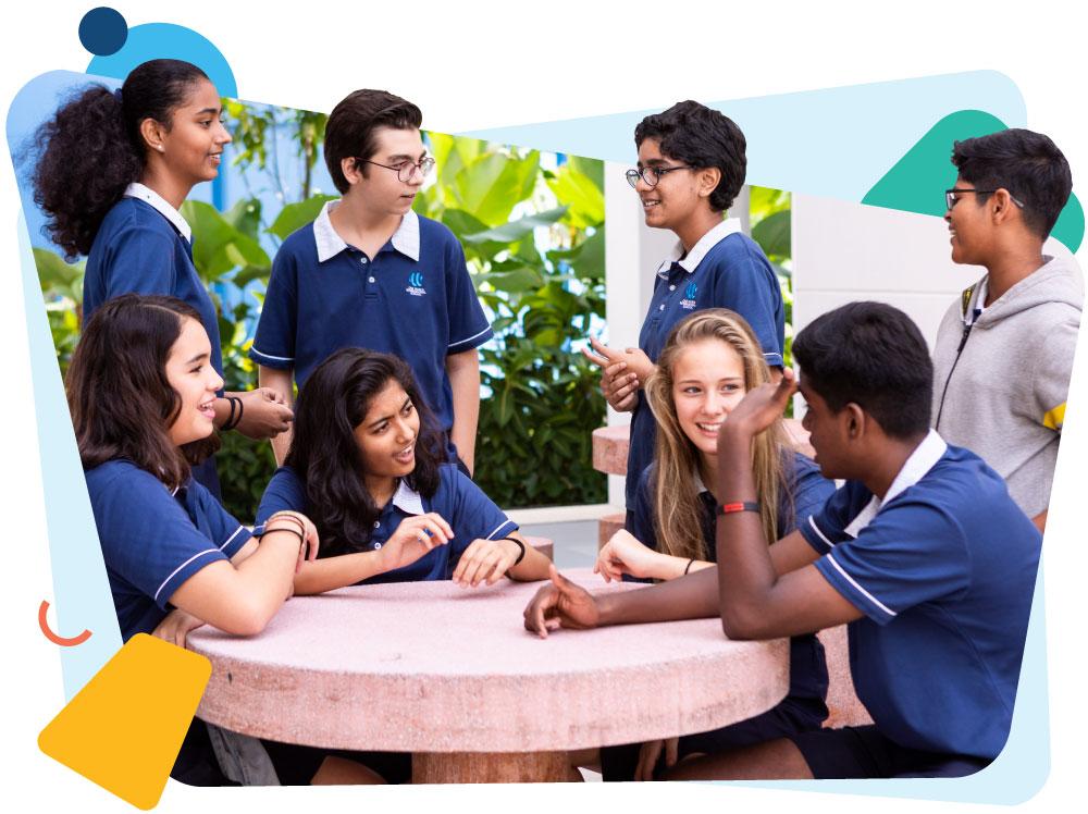students-talking -around-table