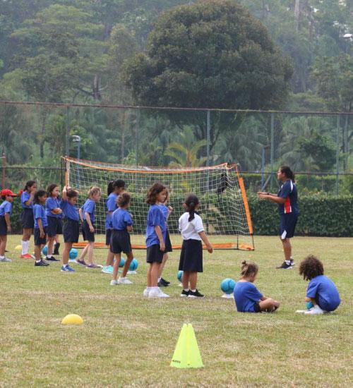 class-playing-football