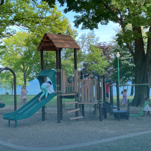 children's garden and water play