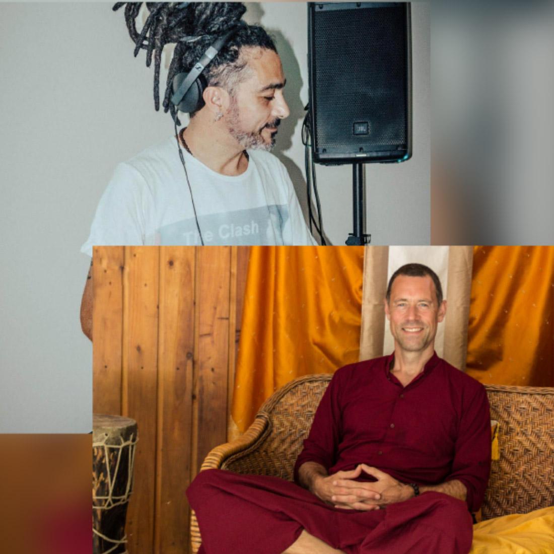 Buddhist Monk Gyalten Sengye & DJ Anirvan Deva