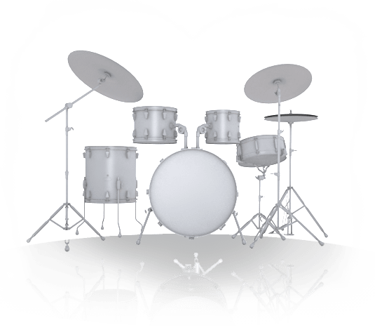 White Drum Set