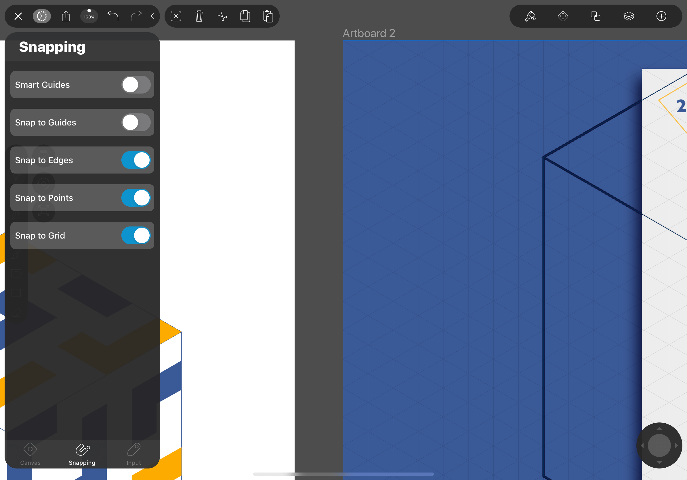 use the isometric grid