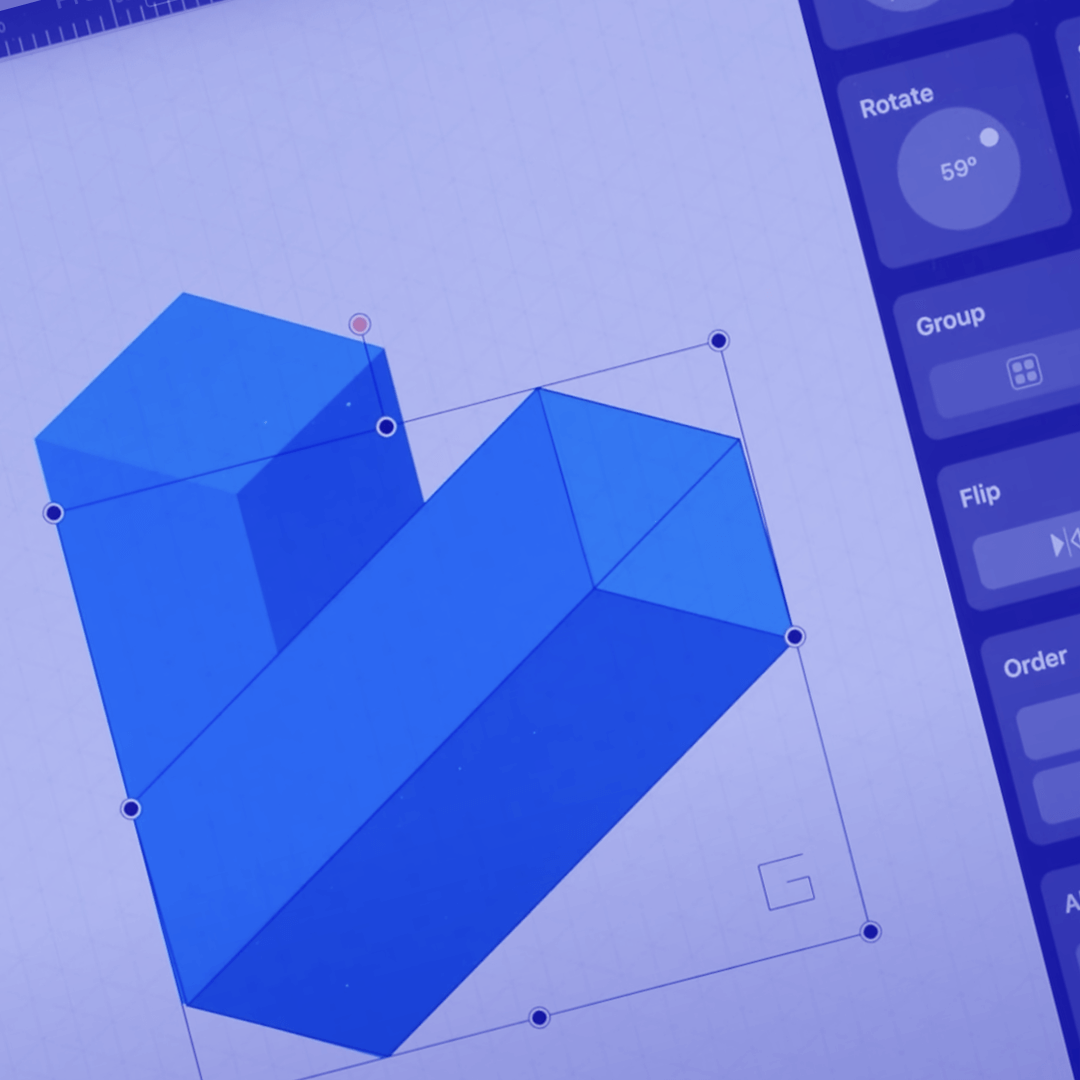 How to set the Isometric Grid in Vectornator iPad