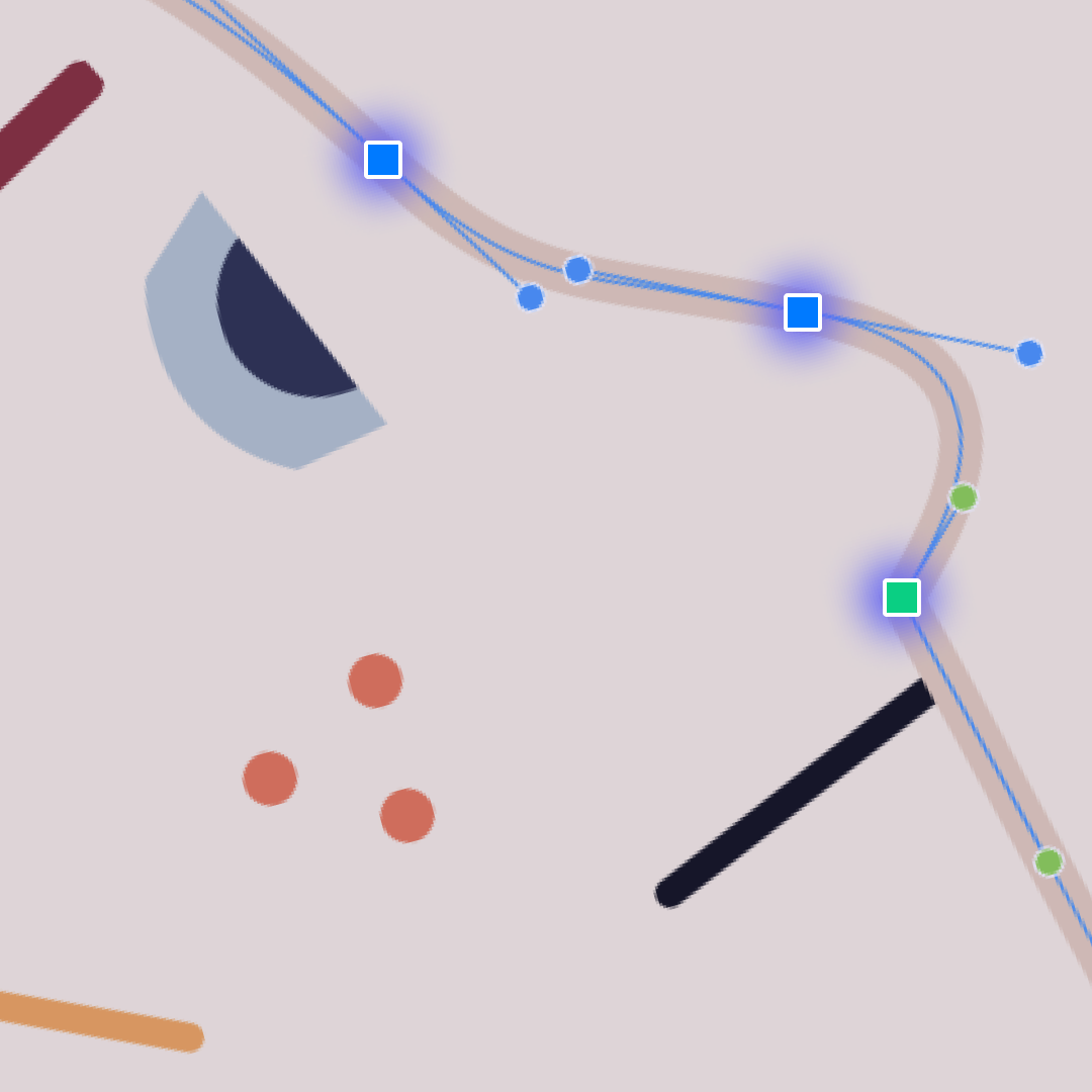 How to work with bezier nodes in Vectornator