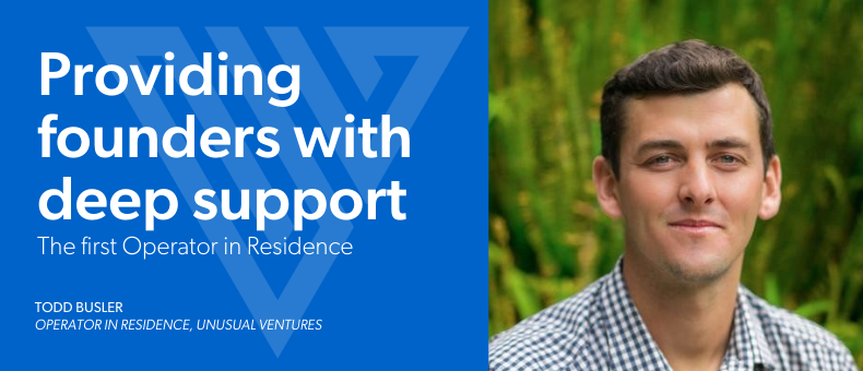 Providing founders with deep support: the first Operator in Residence