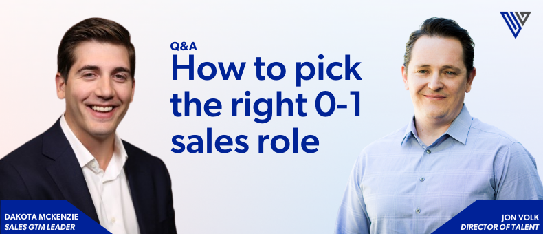 Ready to join an early-stage startup as their first sales lead?