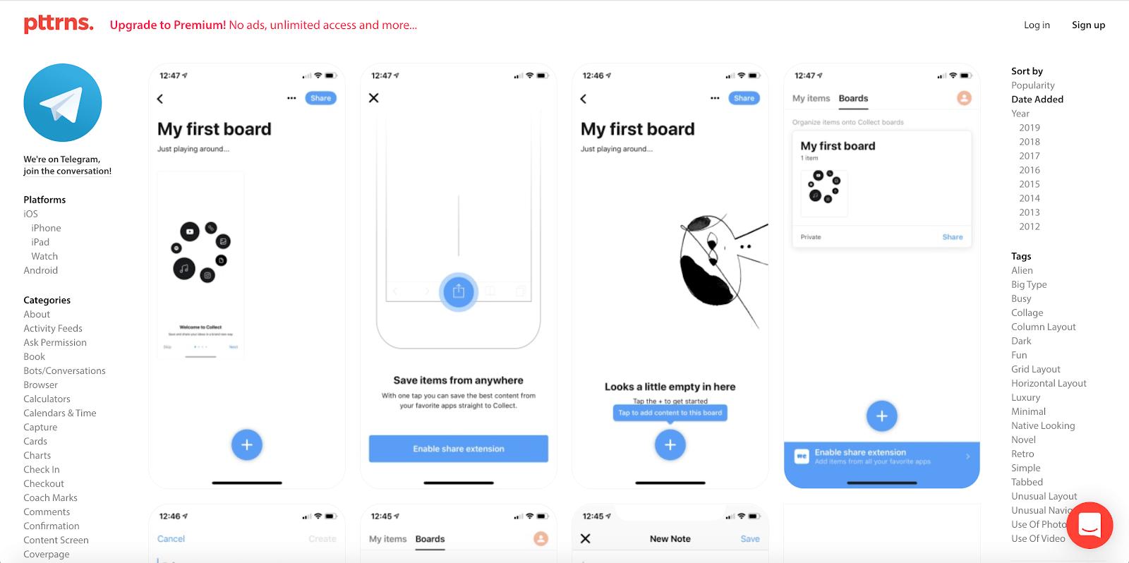 pttrns mobile designs