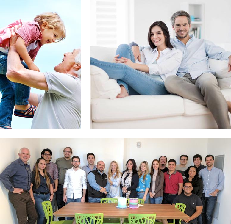 Photographs of HealthCare.com's team