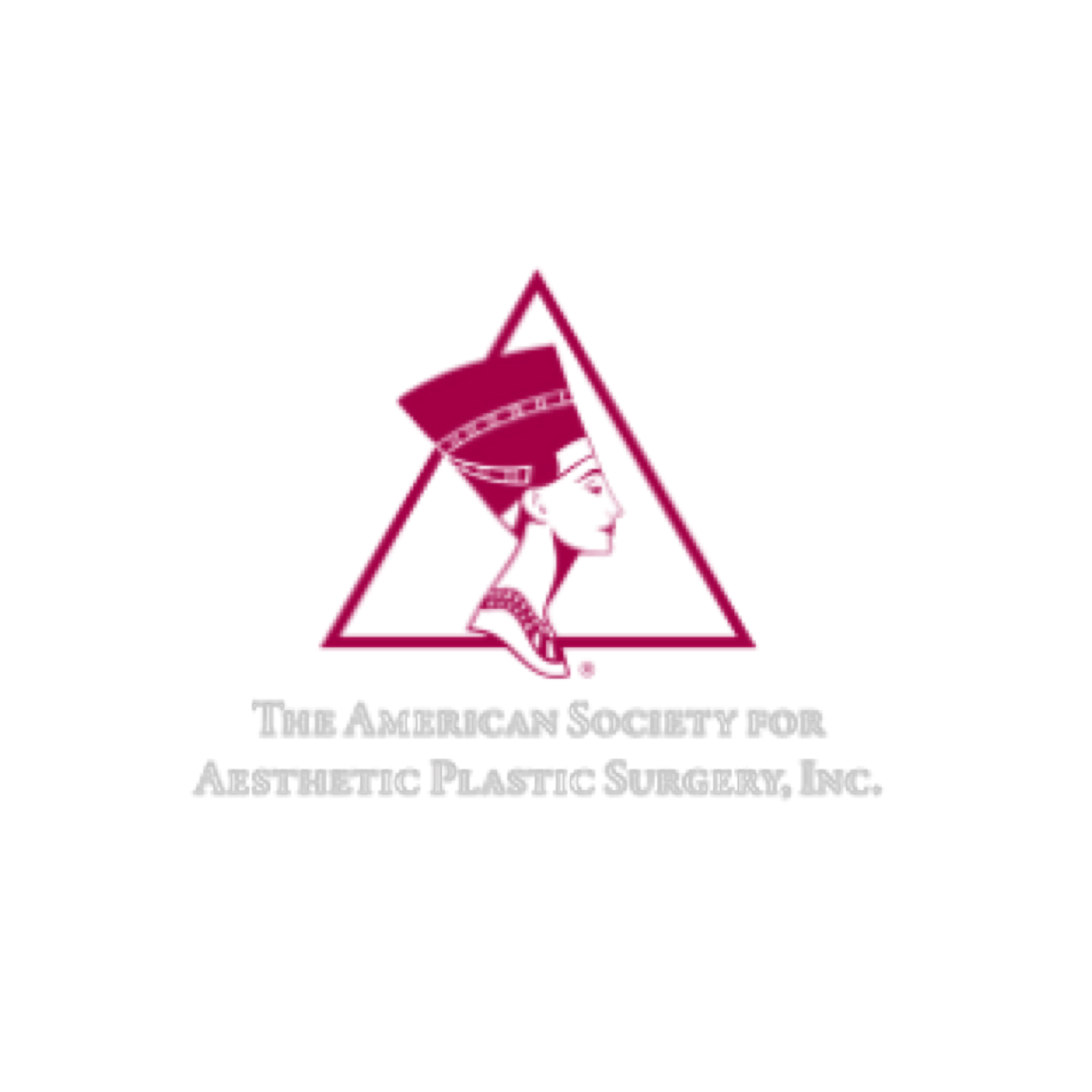 The American Society for Aesthetic Plastic Surgery, Inc. Logo.
