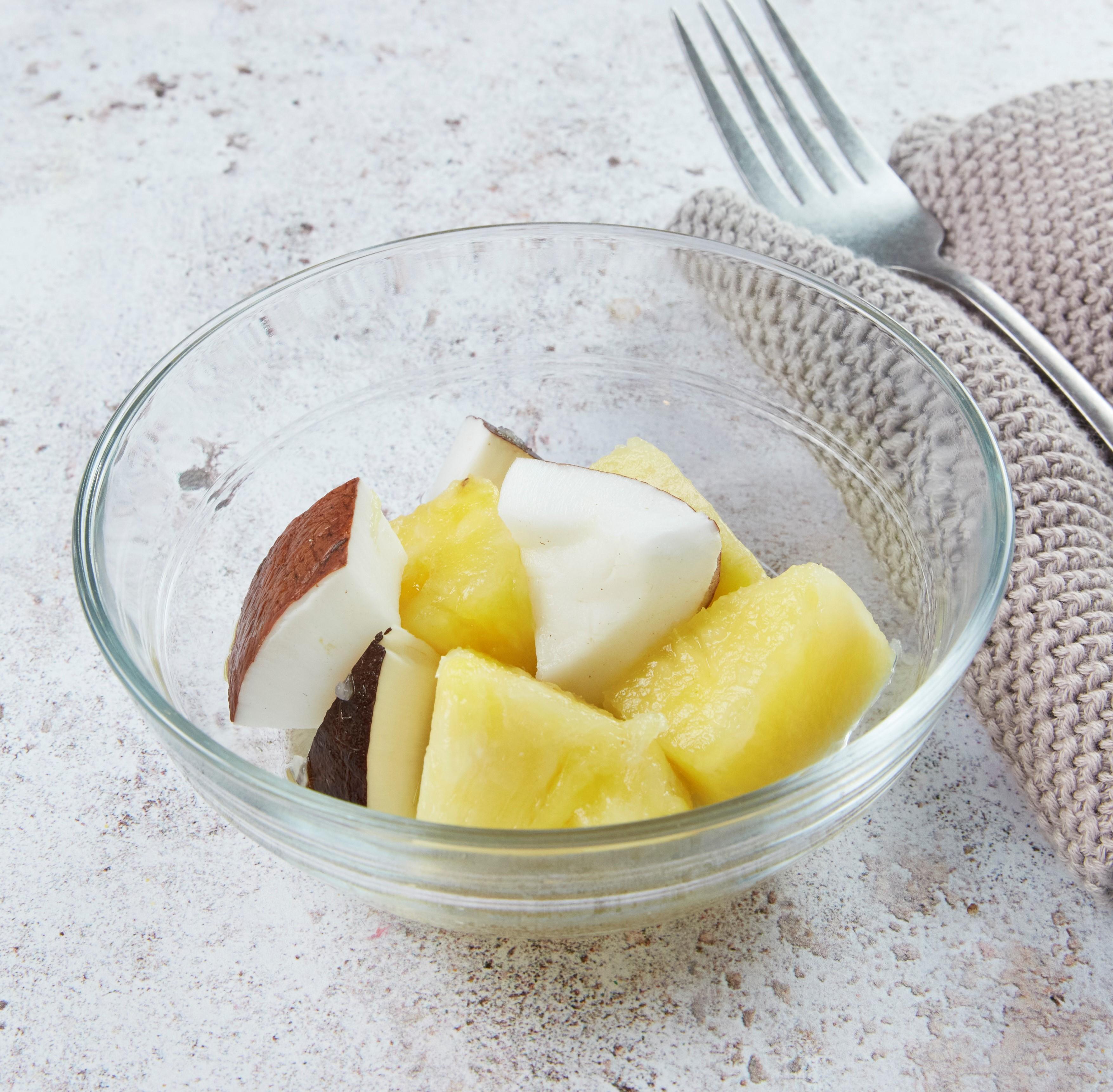 Salade de fruits ananas coco
