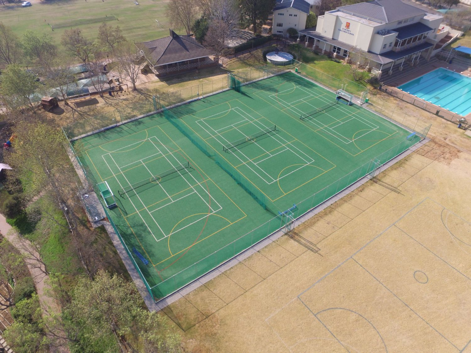 Outdoor multi-use surface at St Peter Preparatory