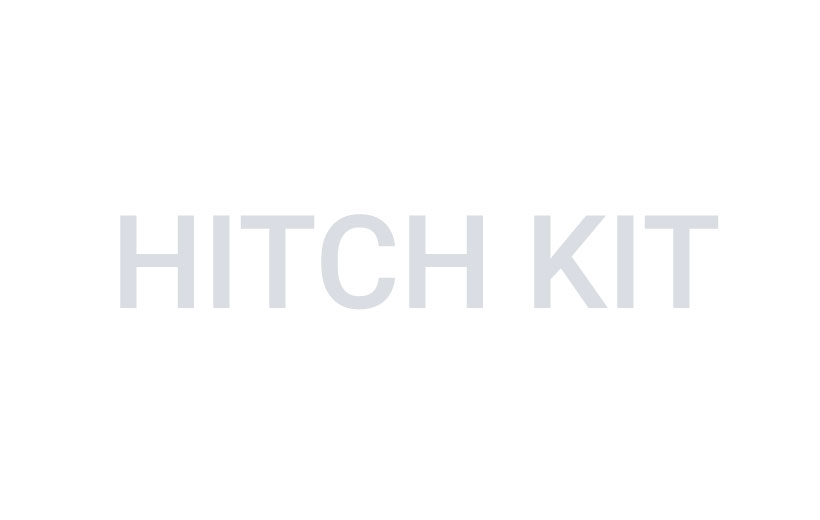 Image of gray text reading hitch kit on a white background.