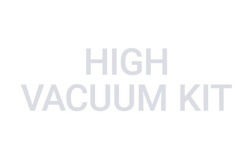 Image of gray text reading high vacuum kit on a white background.