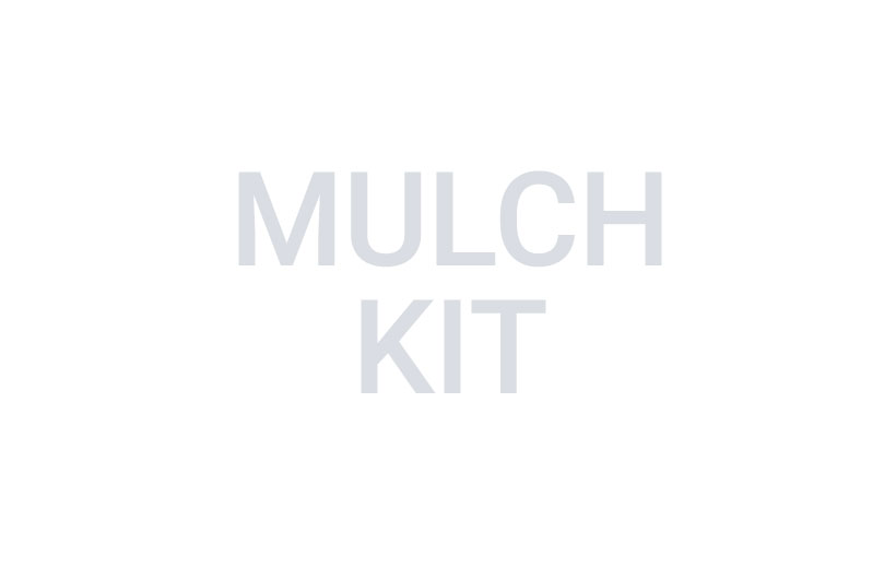 Image of gray text reading mulch kit on a white background.