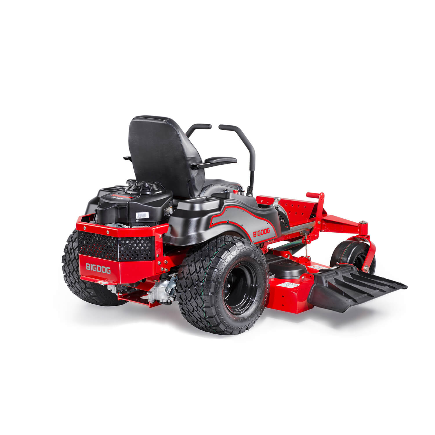 Image of the profile of a riding mower on the trim side of the deck