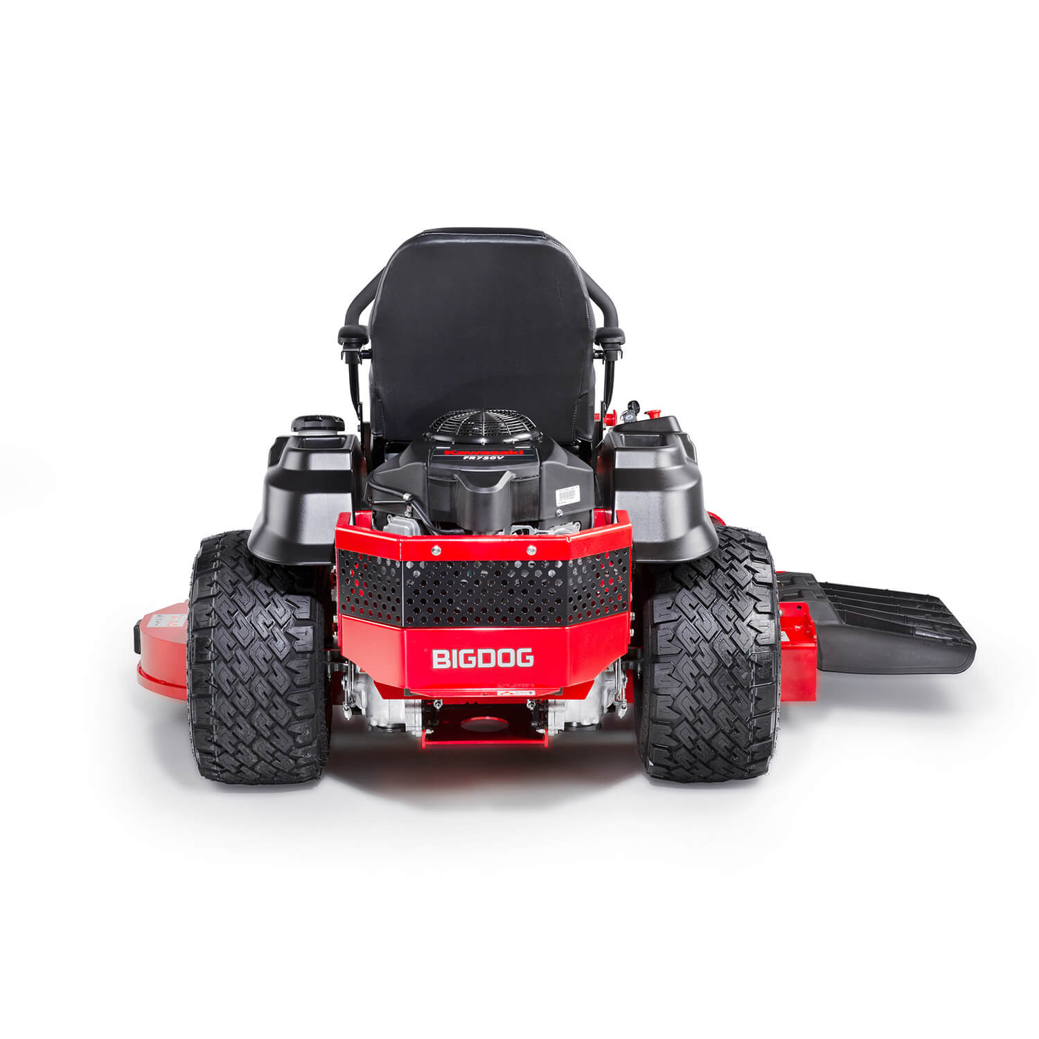 Image of the rear of a riding mower