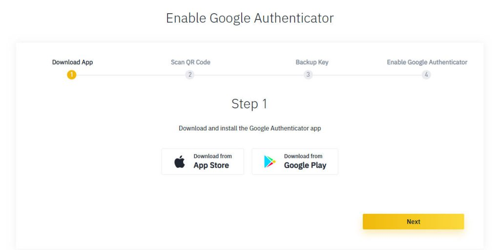 Binance 2 factor authentication Guide for Security app