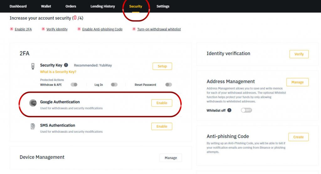 Binance 2 factor authentication Guide for Security Google