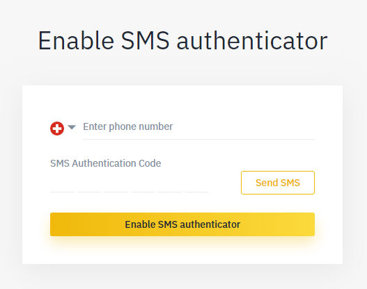 Binance 2 factor authentication Guide for Security SMS