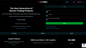 BitMex Registration Page