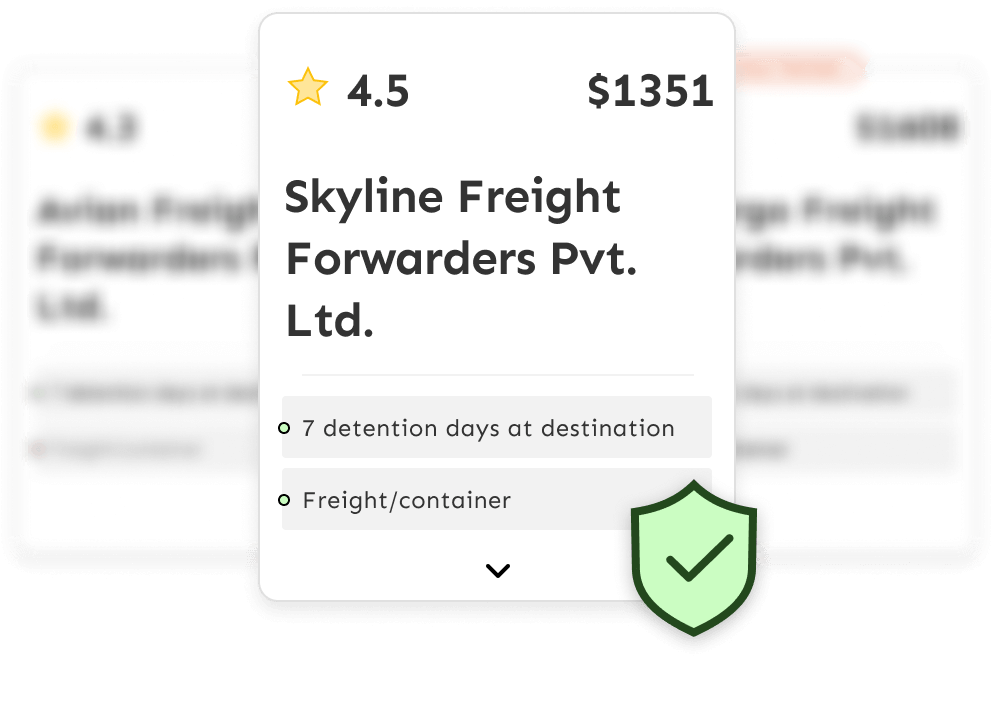Choose from a list of trusted freight forwarders