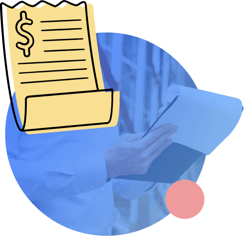Person holding shipping Bill of Lading or Airway Bill