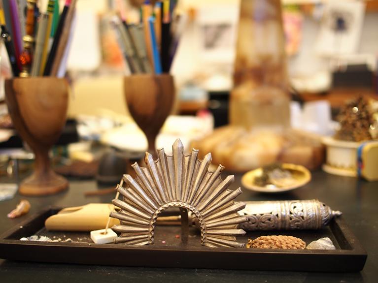 Photo of Cathy Waterman's studio.