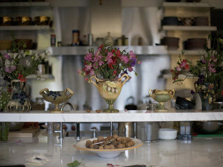 Photo of Cathy Waterman's kitchen.