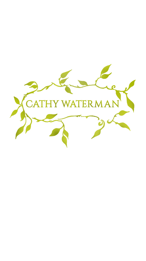 Image of Cathy Waterman wreath logo on white background