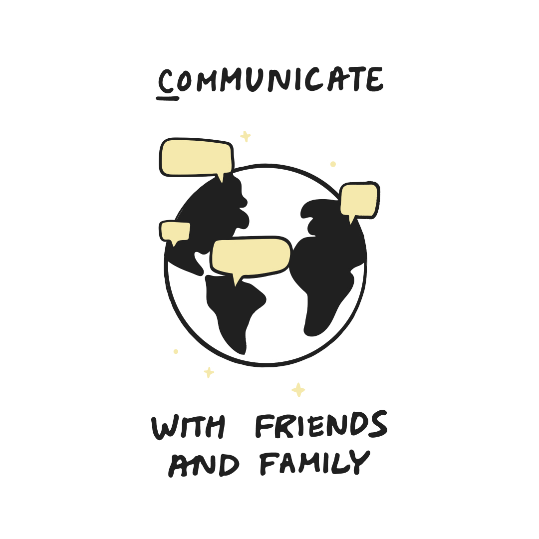 guide to working from home - communicate with friends and family