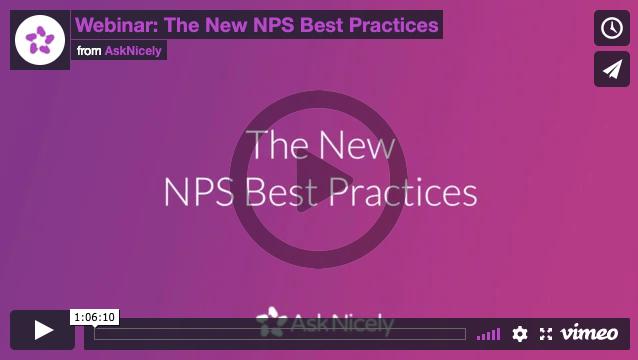 Watch the new NPS Best Practices Webinar