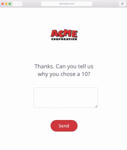 NPS survey question